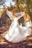 Beautiful bride in her wedding day Royalty Free Stock Images