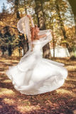 Beautiful bride in her wedding day Royalty Free Stock Photography