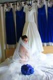 Beautiful Bride on Her Wedding Day. Stock Photos