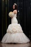 Beautiful Bride In Her Wedding Dress Stock Photo