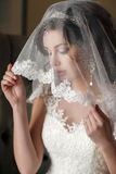 Beautiful bride in her wedding dress Royalty Free Stock Photography