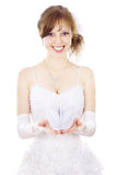 Beautiful bride holds paper Swan Royalty Free Stock Images