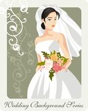 Beautiful Bride Illustration. Illustration of a beautiful bride on her wedding day Royalty Free Stock Image