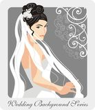 Beautiful Bride Illustration. Illustration of a beautiful bride on her wedding day Stock Photo