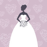 Beautiful Bride. Illustration of a Beautiful Bride Royalty Free Stock Photos