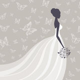 Beautiful Bride. Illustration of a Beautiful Bride Royalty Free Stock Images