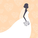 Beautiful Bride. Illustration of a Beautiful Bride Royalty Free Stock Photo