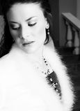 Beautiful Bride In Coat Royalty Free Stock Images
