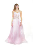 Beautiful Bride In Pink Dress Royalty Free Stock Photo