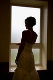 Beautiful Bride In Silhouette Stock Photography