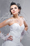 Beautiful bride indoors Royalty Free Stock Photos