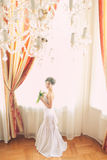Beautiful bride indoors Stock Photo
