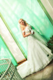 Beautiful bride indoors Stock Image