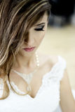 Beautiful bride inndoor Stock Photos