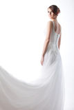 Beautiful  bride in a luxurious wedding dress Stock Photography