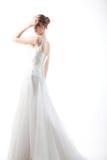 Beautiful  bride in a luxurious wedding dress Stock Photo
