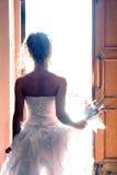 Beautiful bride meeting new life Stock Photography