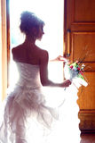 Beautiful bride meeting new life Royalty Free Stock Photos