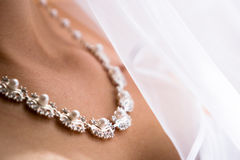Beautiful bride necklace Stock Image