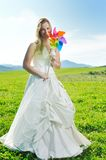 Beautiful bride outdoor Royalty Free Stock Photos
