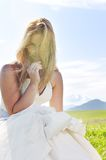Beautiful bride outdoor Royalty Free Stock Photo