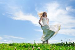 Beautiful bride outdoor Stock Photography