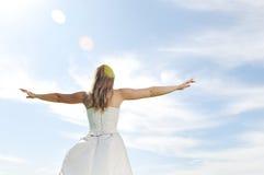 Beautiful bride outdoor Stock Photo