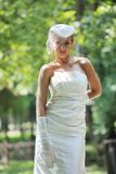 Beautiful bride outdoor Stock Photos