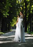 Beautiful bride outdoor Stock Image