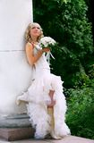 Beautiful bride outdoor portrait Stock Images