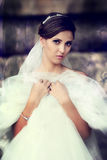 Beautiful bride outdoor Royalty Free Stock Images