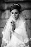 Beautiful bride outdoor Royalty Free Stock Image