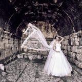 Beautiful bride outdoor Stock Photos