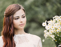 Beautiful bride outdoors Royalty Free Stock Photography
