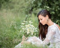Beautiful bride outdoors Royalty Free Stock Images