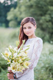 Beautiful bride outdoors Stock Photography