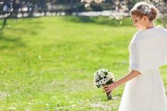 Beautiful Bride Outdoors Royalty Free Stock Photos