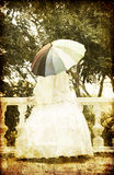 Beautiful bride in the park. Royalty Free Stock Image