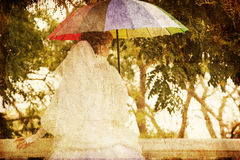 Beautiful bride in the park. Stock Images