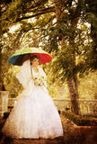Beautiful bride in the park. Stock Photos