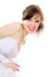 Beautiful bride Peeps Stock Photo