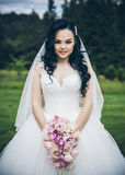 Beautiful bride perfect style. Stock Image