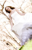 Beautiful Bride Playing. A beautiful bride playing and spinning stock photography