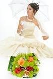 Beautiful bride portrait Stock Images