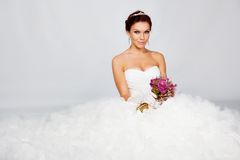 Beautiful bride portrait Stock Photos
