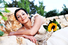 Beautiful bride portrait Royalty Free Stock Photography