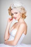 Beautiful bride portrait wearing professional make-up Royalty Free Stock Photo