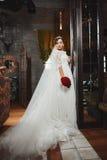 Beautiful Bride Portrait wedding makeup, hairstyle Royalty Free Stock Image
