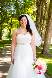 Beautiful Bride Portraits Outdoors Stock Photo