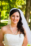 Beautiful Bride Portraits Outdoors Royalty Free Stock Images